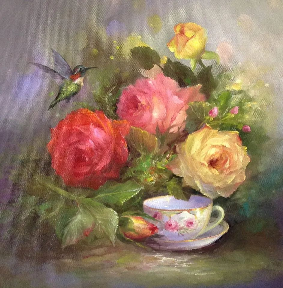 这对老夫妇教授绘画40多年,画的花也太漂亮了!插图47