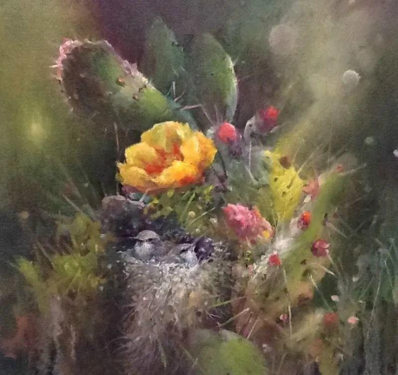 这对老夫妇教授绘画40多年,画的花也太漂亮了!插图48