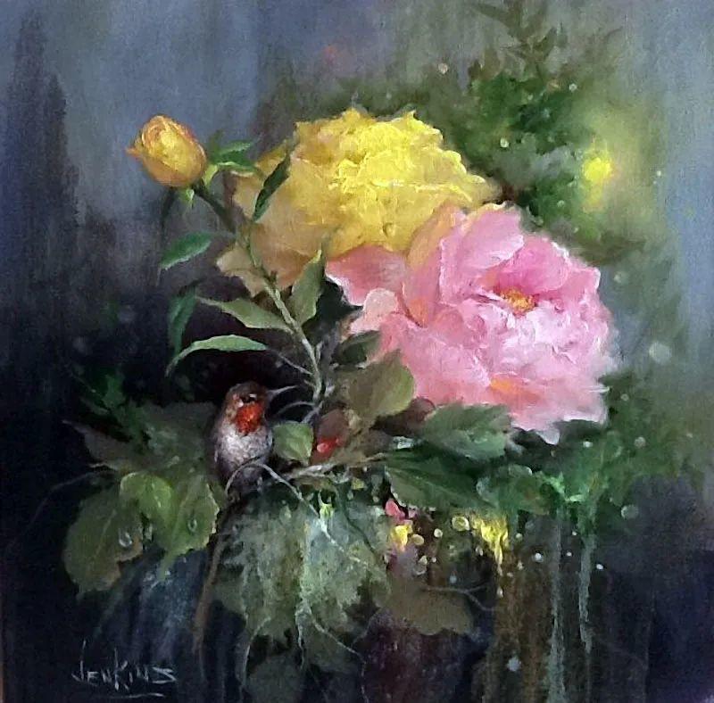 这对老夫妇教授绘画40多年,画的花也太漂亮了!插图49