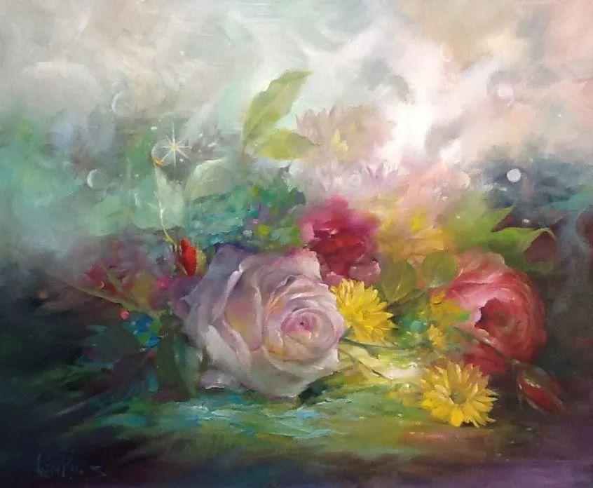 这对老夫妇教授绘画40多年,画的花也太漂亮了!插图52