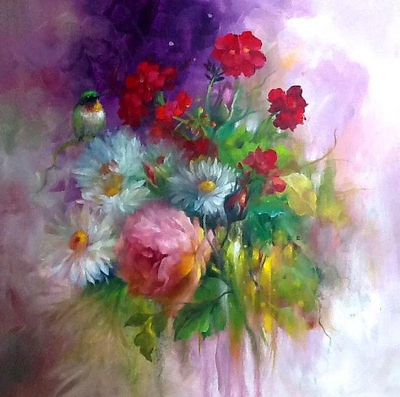 这对老夫妇教授绘画40多年,画的花也太漂亮了!插图55
