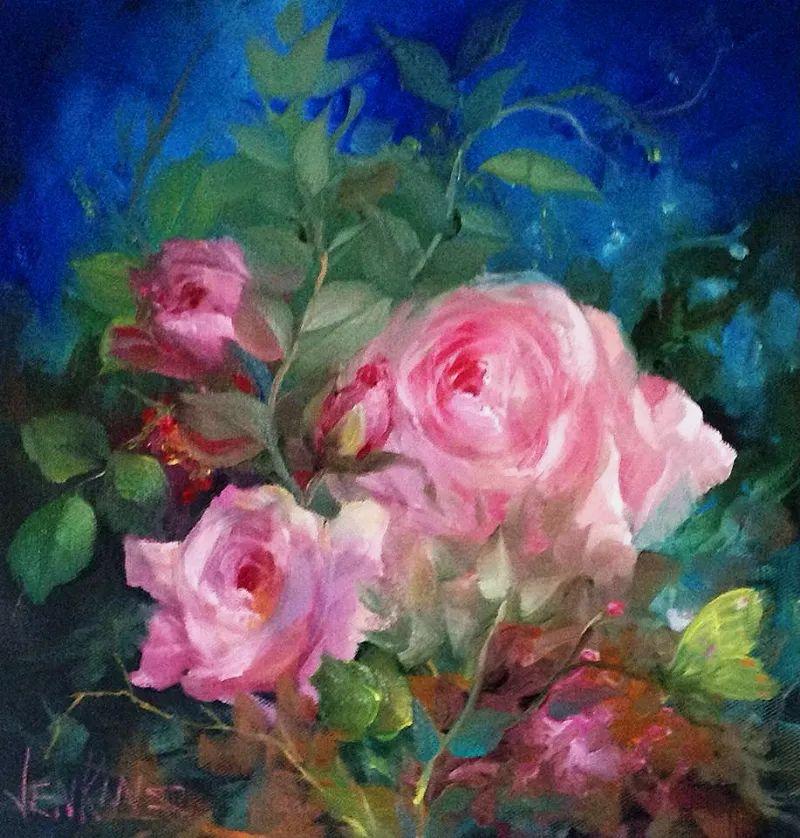 这对老夫妇教授绘画40多年,画的花也太漂亮了!插图56