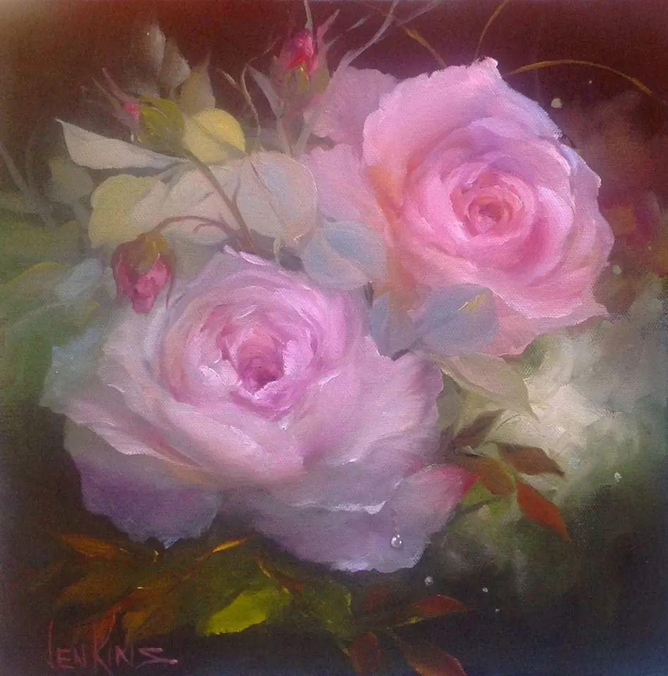 这对老夫妇教授绘画40多年,画的花也太漂亮了!插图57