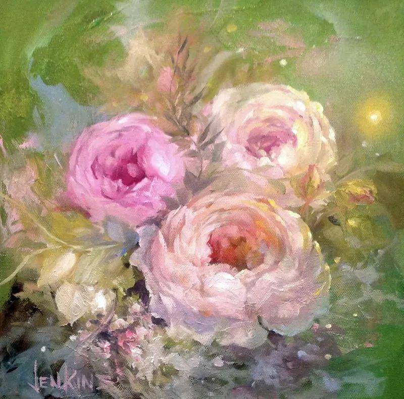 这对老夫妇教授绘画40多年,画的花也太漂亮了!插图58