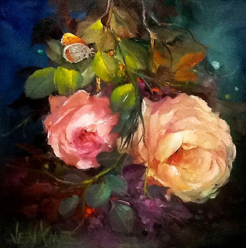 这对老夫妇教授绘画40多年,画的花也太漂亮了!插图59