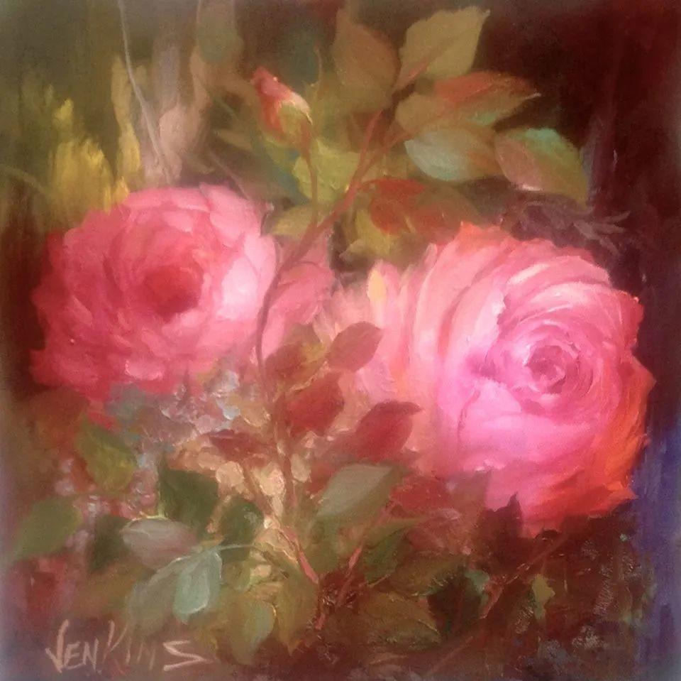 这对老夫妇教授绘画40多年,画的花也太漂亮了!插图60