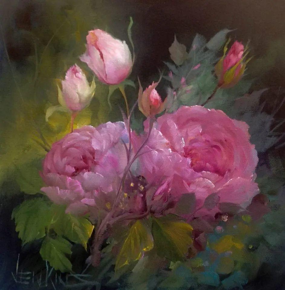 这对老夫妇教授绘画40多年,画的花也太漂亮了!插图61