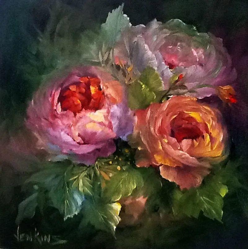 这对老夫妇教授绘画40多年,画的花也太漂亮了!插图62