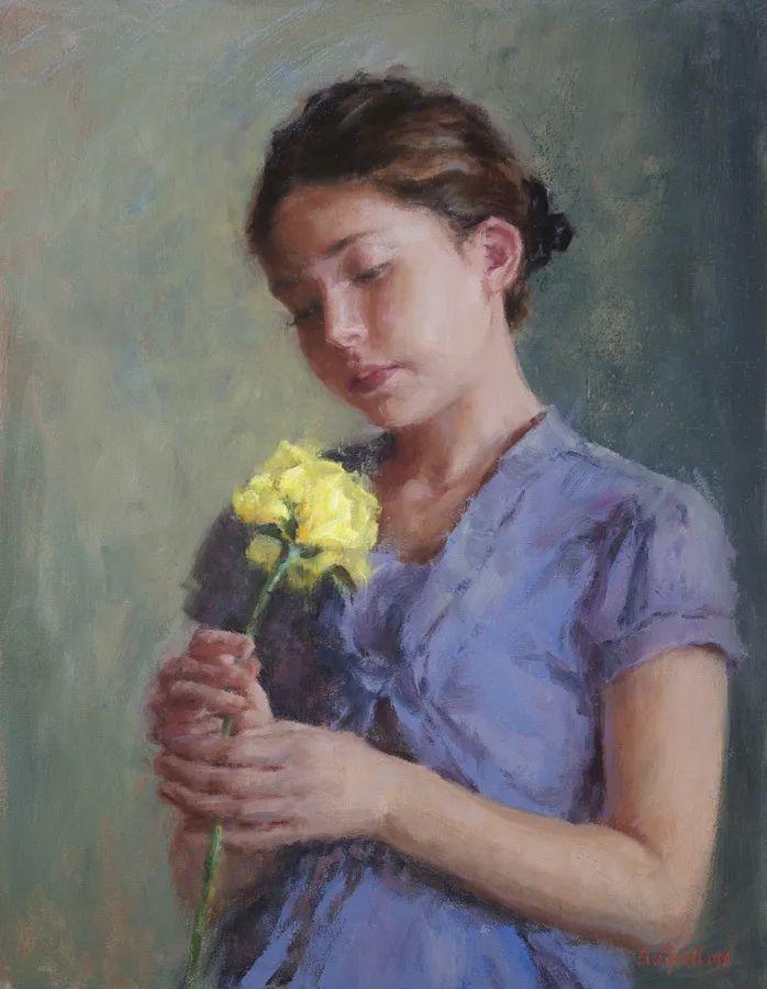 美国女画家苏·福尔人物肖像画选 (中)插图1