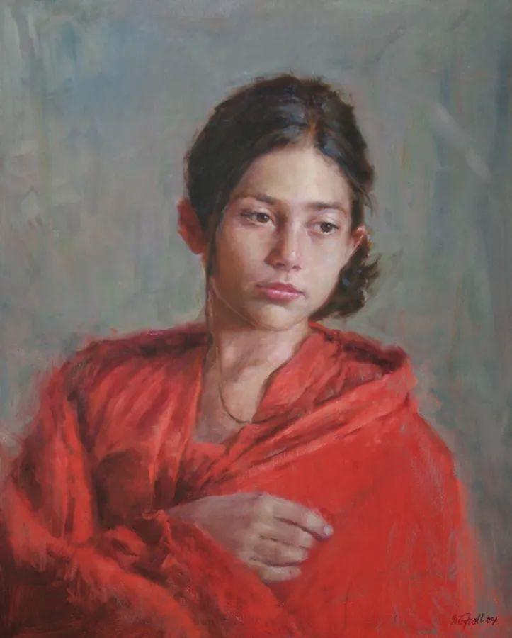 美国女画家苏·福尔人物肖像画选 (中)插图4