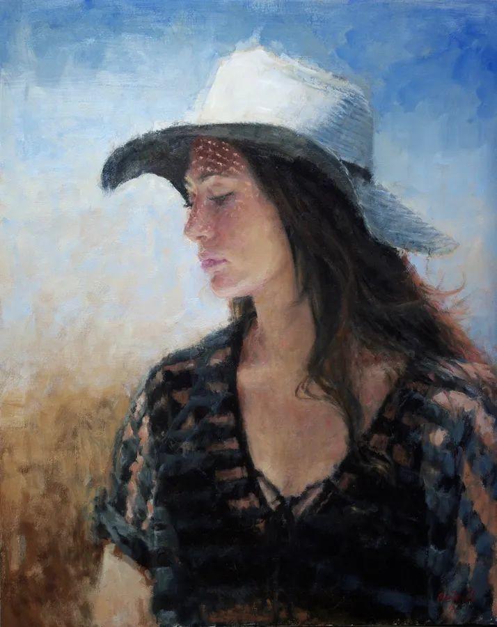 美国女画家苏·福尔人物肖像画选 (中)插图6