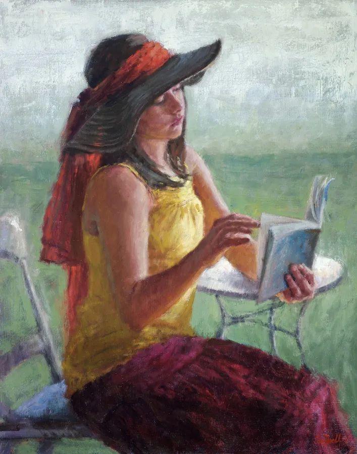 美国女画家苏·福尔人物肖像画选 (中)插图7