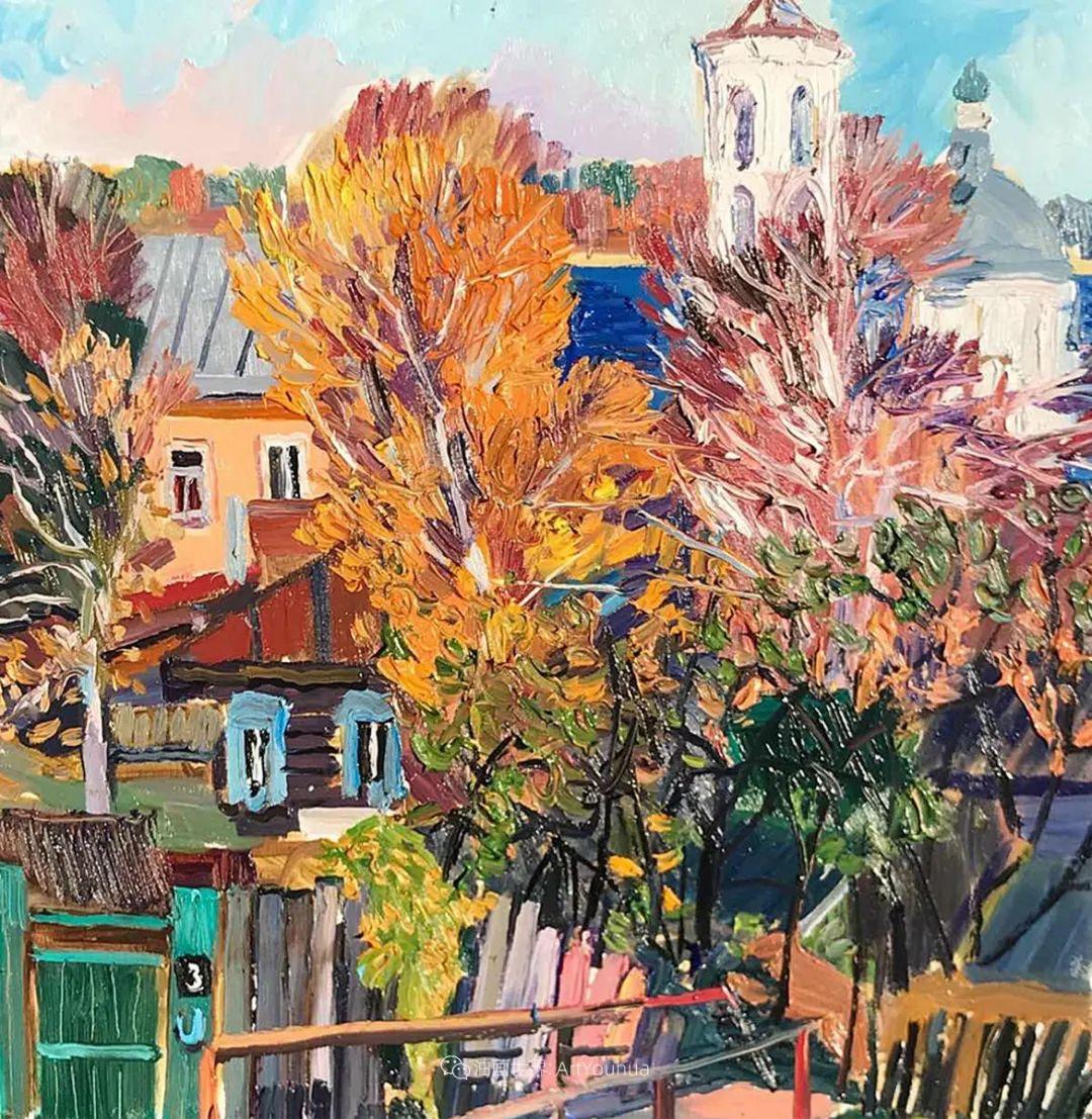 俄罗斯女画家,大笔触风景与花卉,美轮美奂!插图13