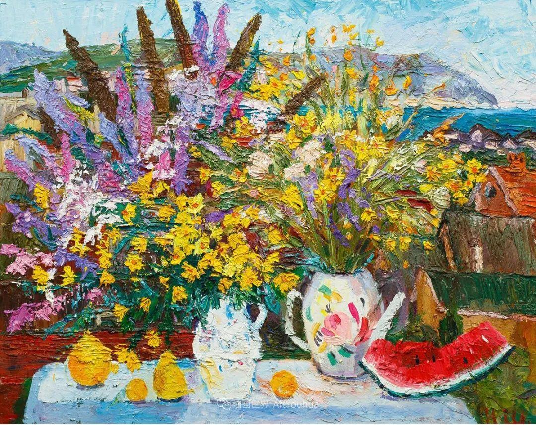 俄罗斯女画家,大笔触风景与花卉,美轮美奂!插图15