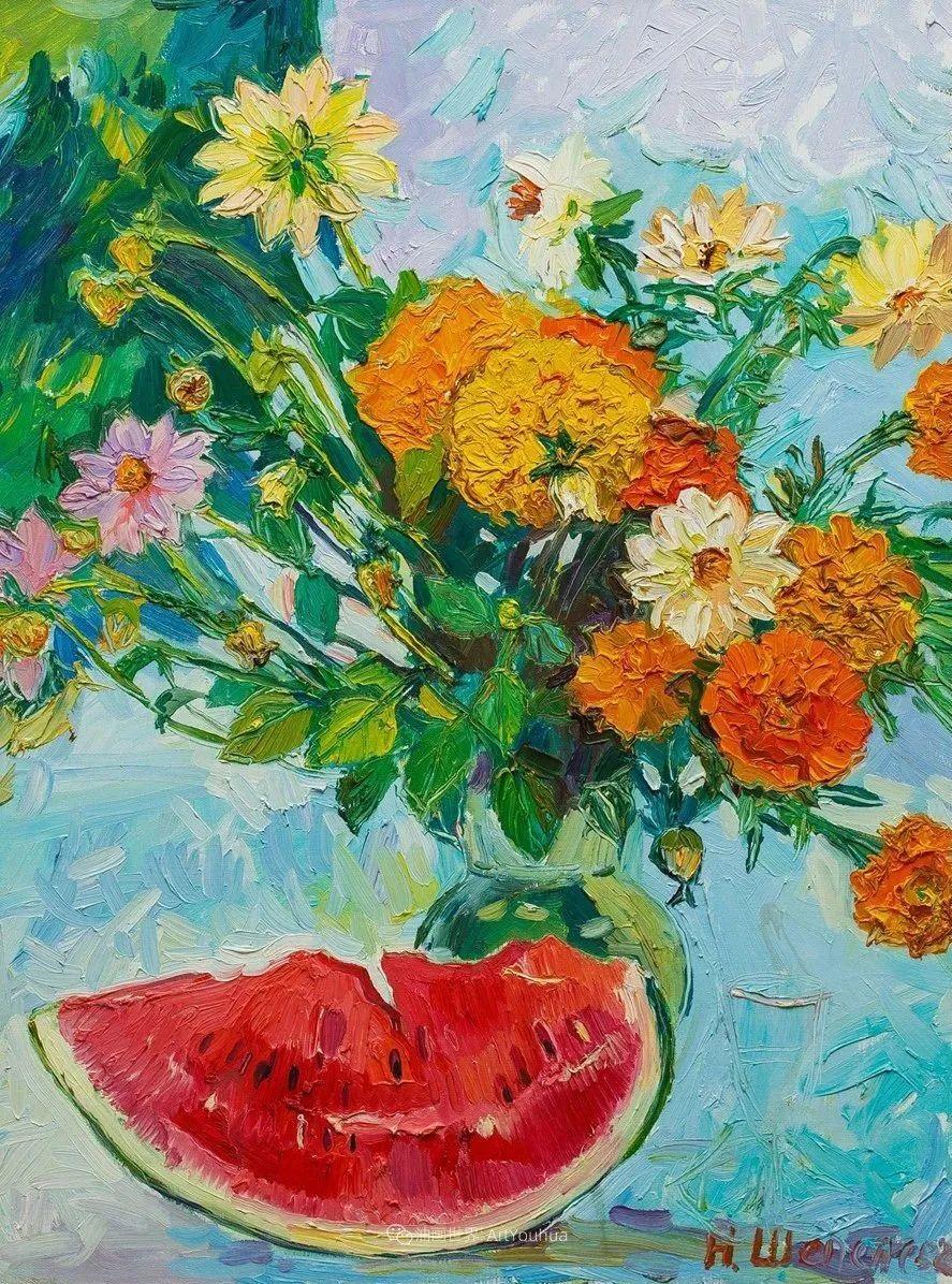 俄罗斯女画家,大笔触风景与花卉,美轮美奂!插图21
