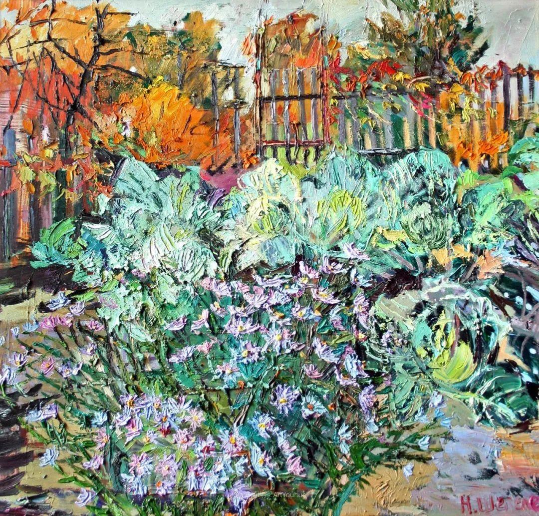 俄罗斯女画家,大笔触风景与花卉,美轮美奂!插图25