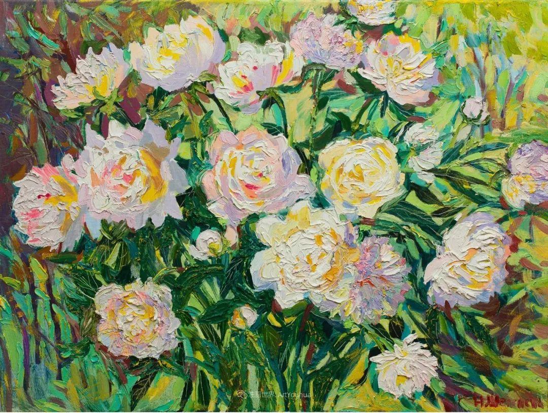 俄罗斯女画家,大笔触风景与花卉,美轮美奂!插图33