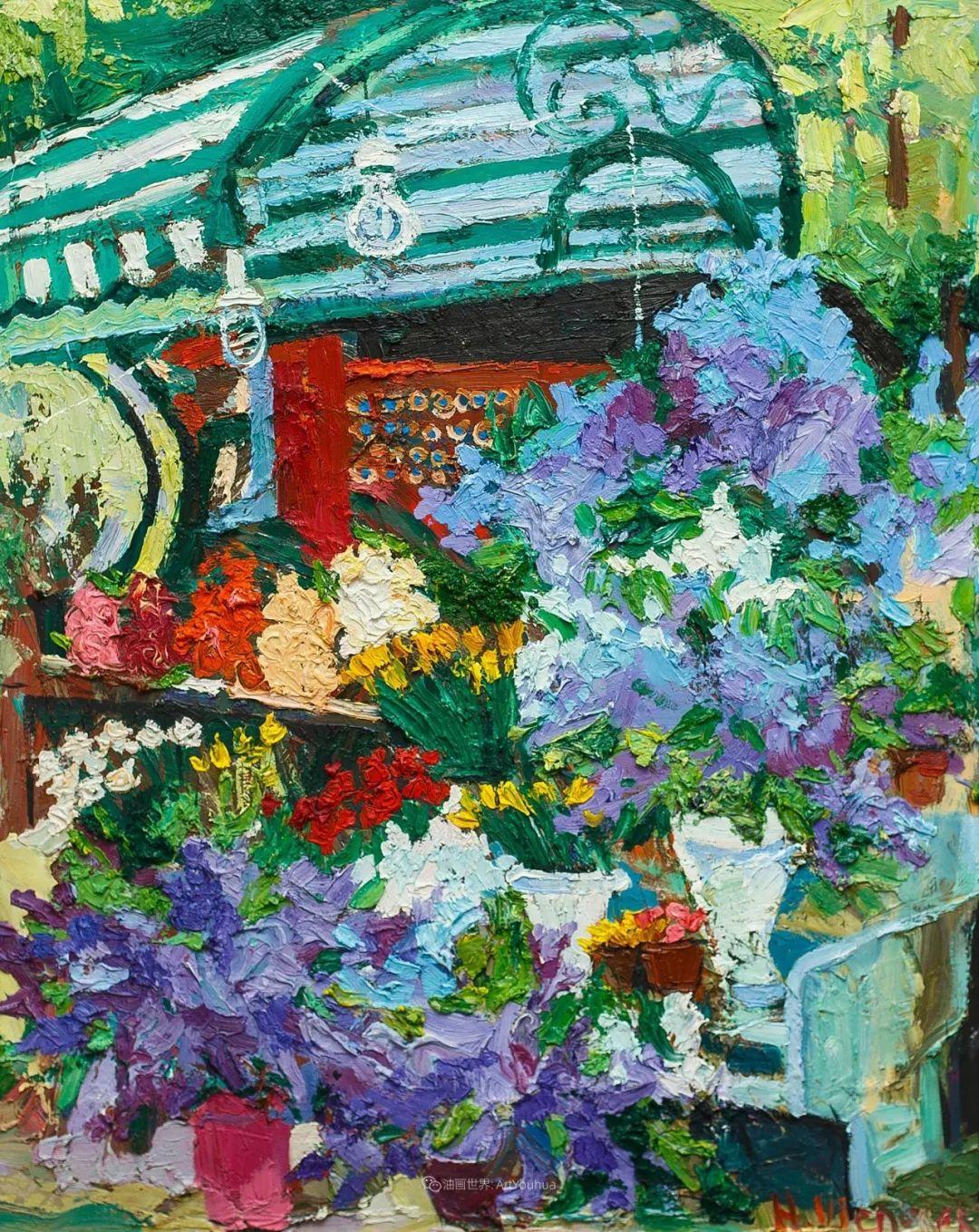 俄罗斯女画家,大笔触风景与花卉,美轮美奂!插图35