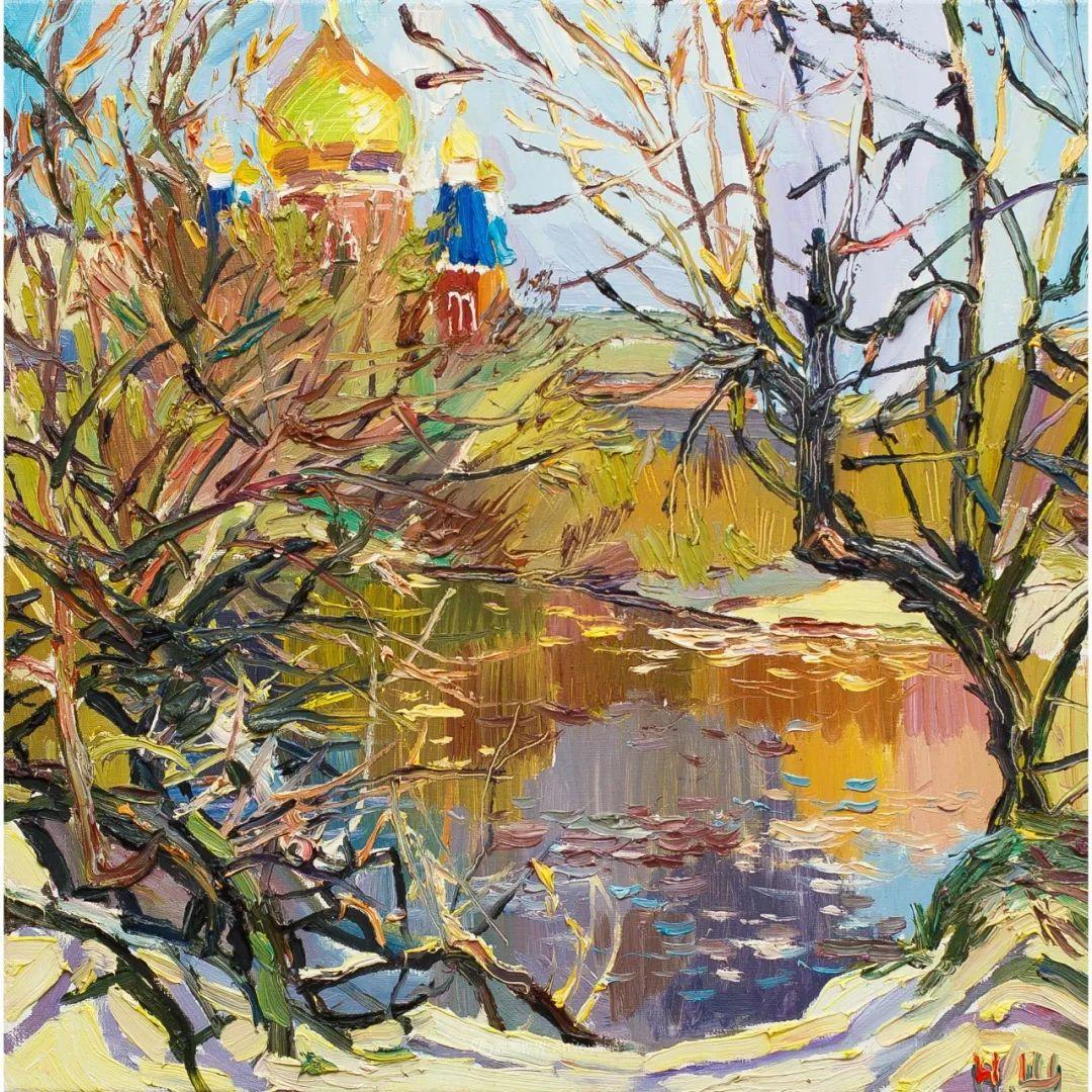 俄罗斯女画家,大笔触风景与花卉,美轮美奂!插图39