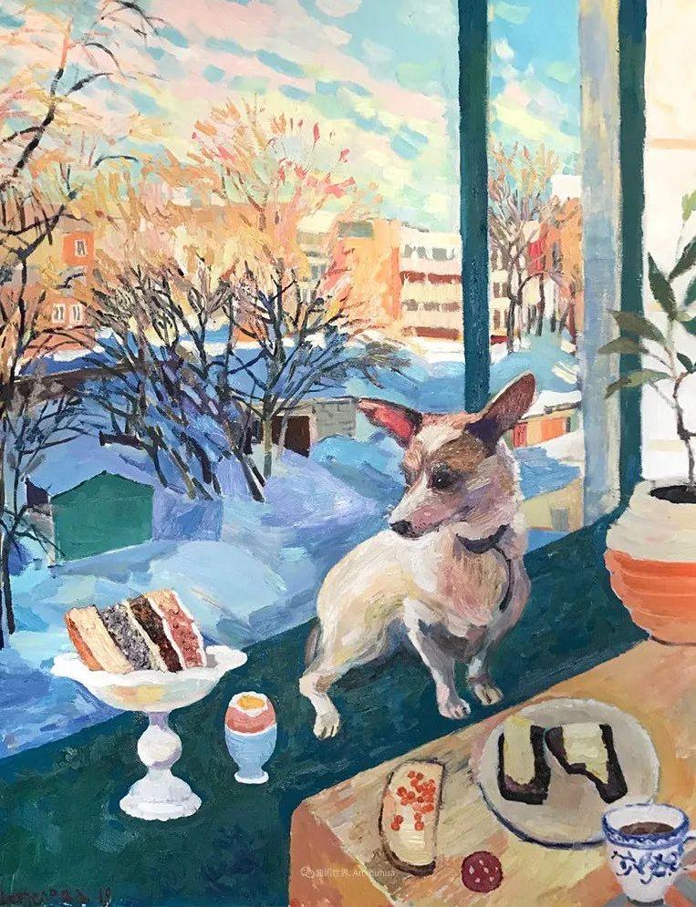 俄罗斯女画家,大笔触风景与花卉,美轮美奂!插图49