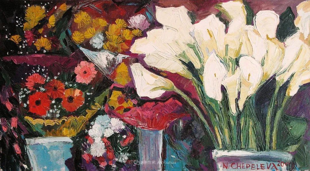 俄罗斯女画家,大笔触风景与花卉,美轮美奂!插图51