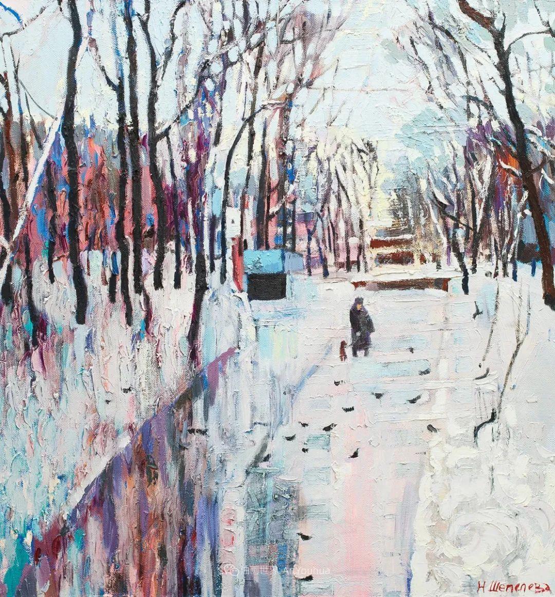 俄罗斯女画家,大笔触风景与花卉,美轮美奂!插图71