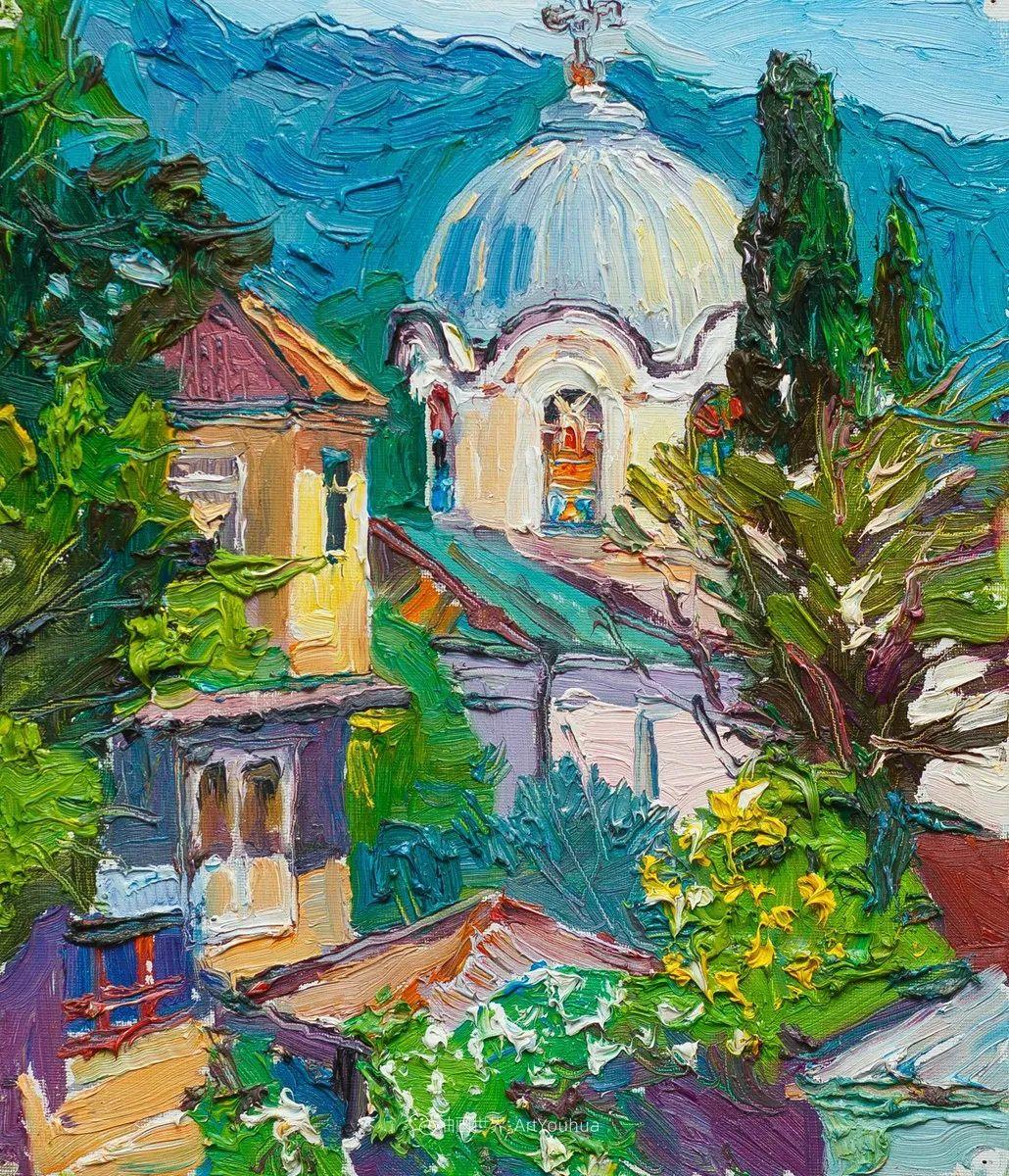 俄罗斯女画家,大笔触风景与花卉,美轮美奂!插图75