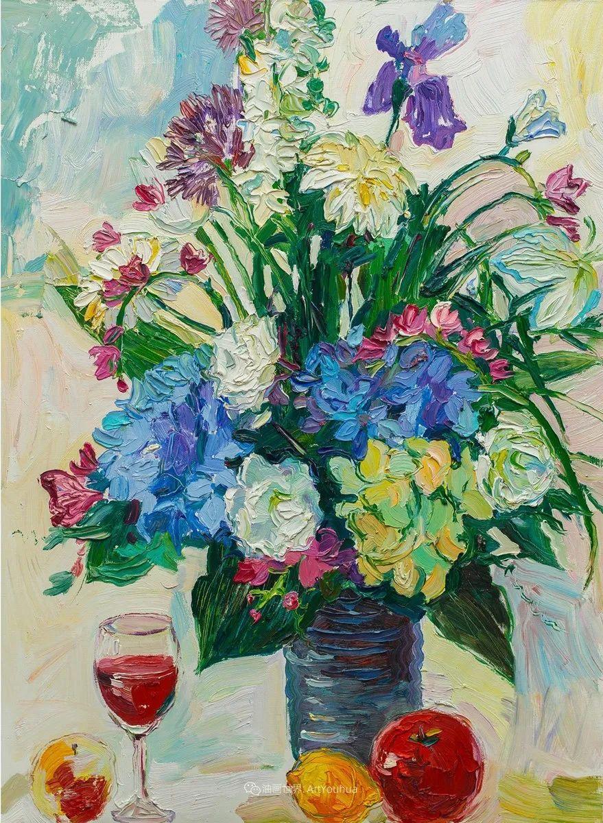俄罗斯女画家,大笔触风景与花卉,美轮美奂!插图87