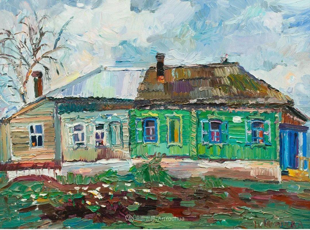 俄罗斯女画家,大笔触风景与花卉,美轮美奂!插图101