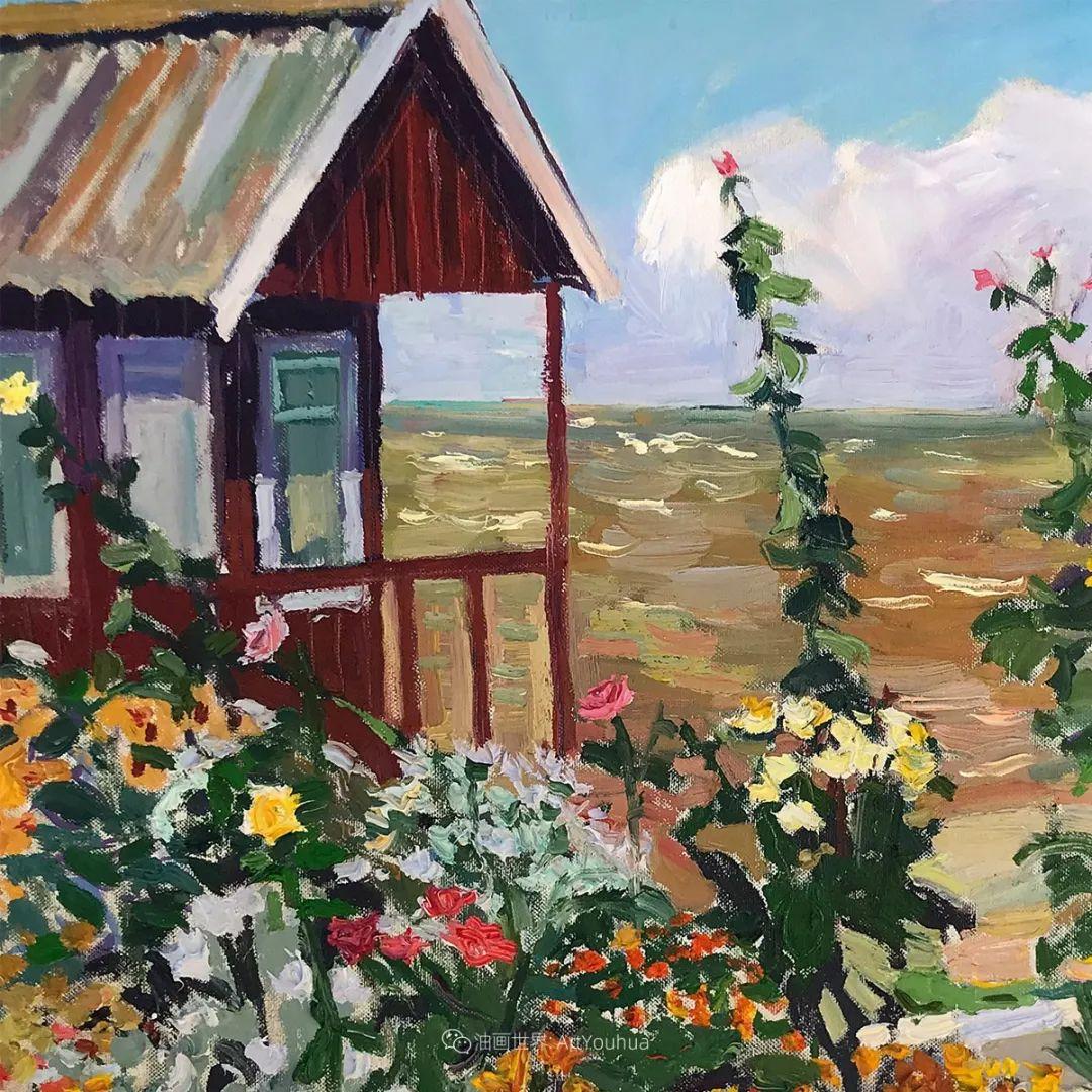 俄罗斯女画家,大笔触风景与花卉,美轮美奂!插图105