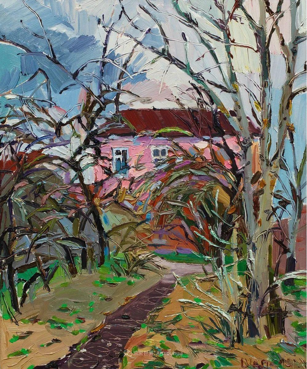 俄罗斯女画家,大笔触风景与花卉,美轮美奂!插图109