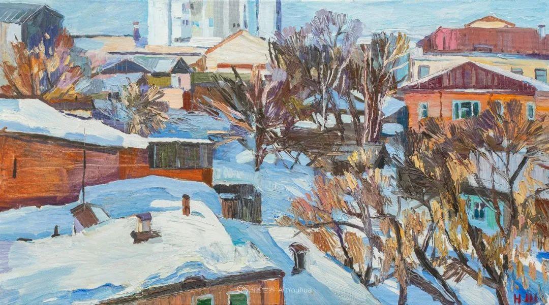 俄罗斯女画家,大笔触风景与花卉,美轮美奂!插图129