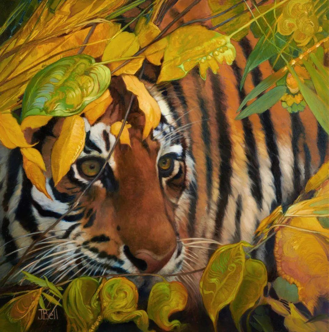 朱莉·贝尔笔下的虎、狮、大象等插图9