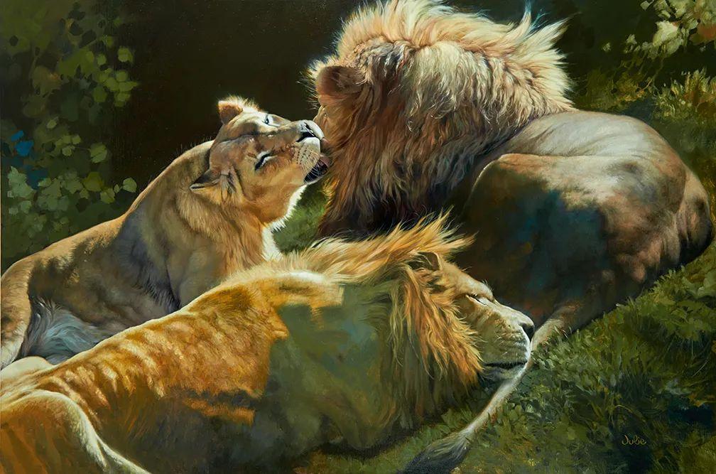 朱莉·贝尔笔下的虎、狮、大象等插图11