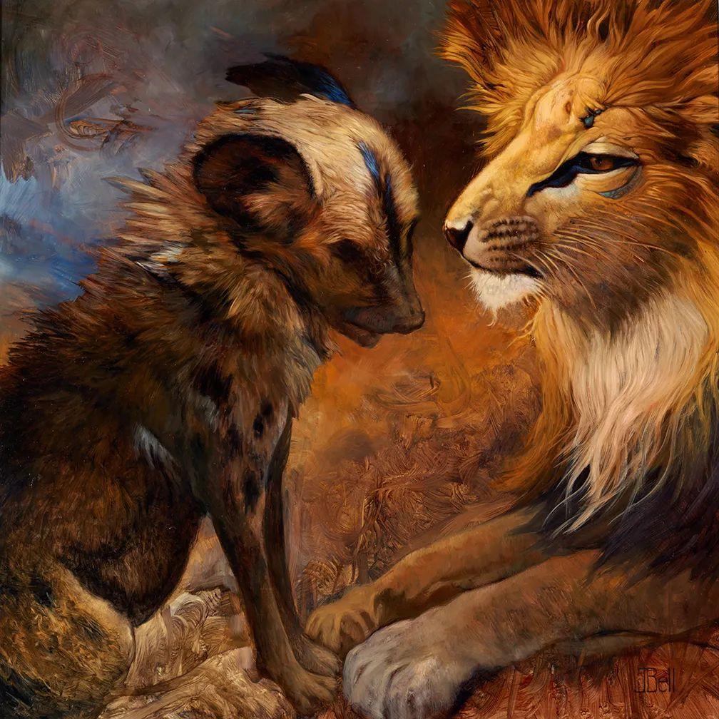 朱莉·贝尔笔下的虎、狮、大象等插图15