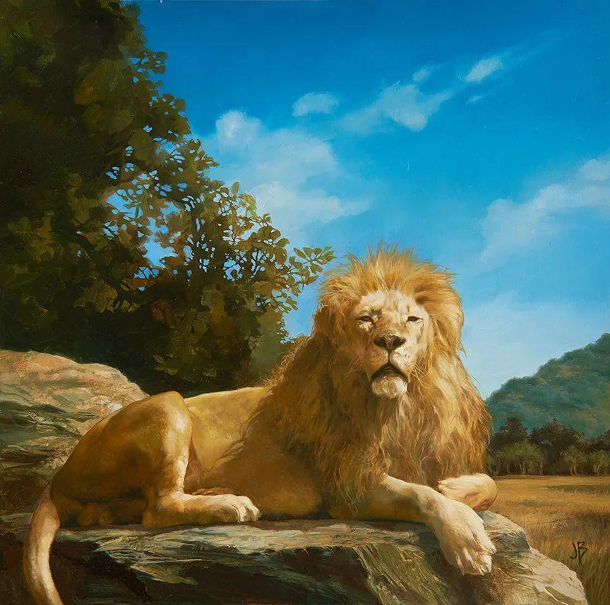 朱莉·贝尔笔下的虎、狮、大象等插图23