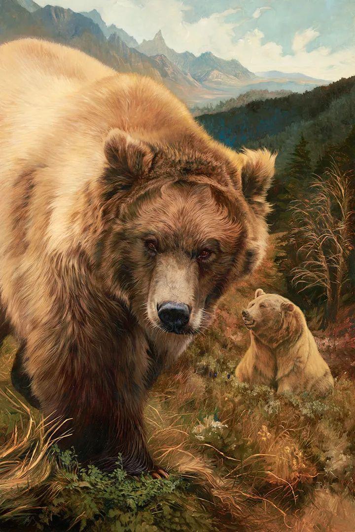 朱莉·贝尔笔下的虎、狮、大象等插图31