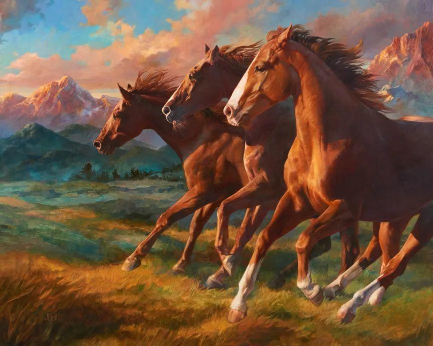 朱莉·贝尔笔下的马插图1
