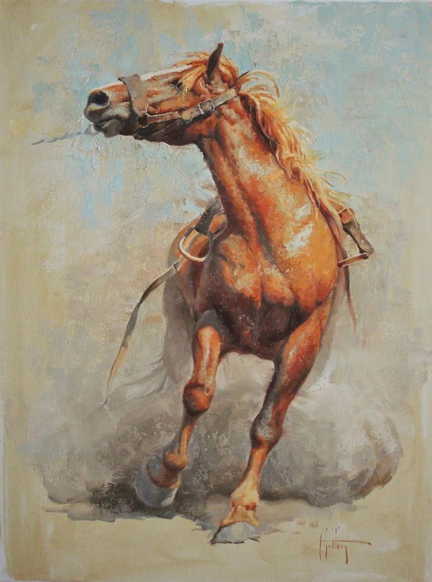 90后美女画家,画马水平堪称一绝,阿比盖尔·古廷作品(上)插图