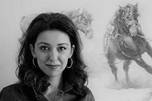 90后美女画家,画马水平堪称一绝,阿比盖尔·古廷作品(上)插图2