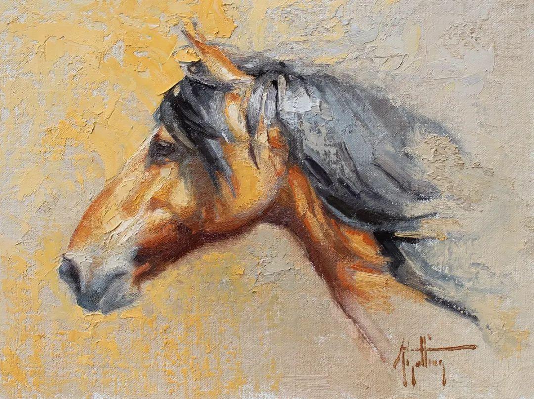 90后美女画家,画马水平堪称一绝,阿比盖尔·古廷作品(上)插图3