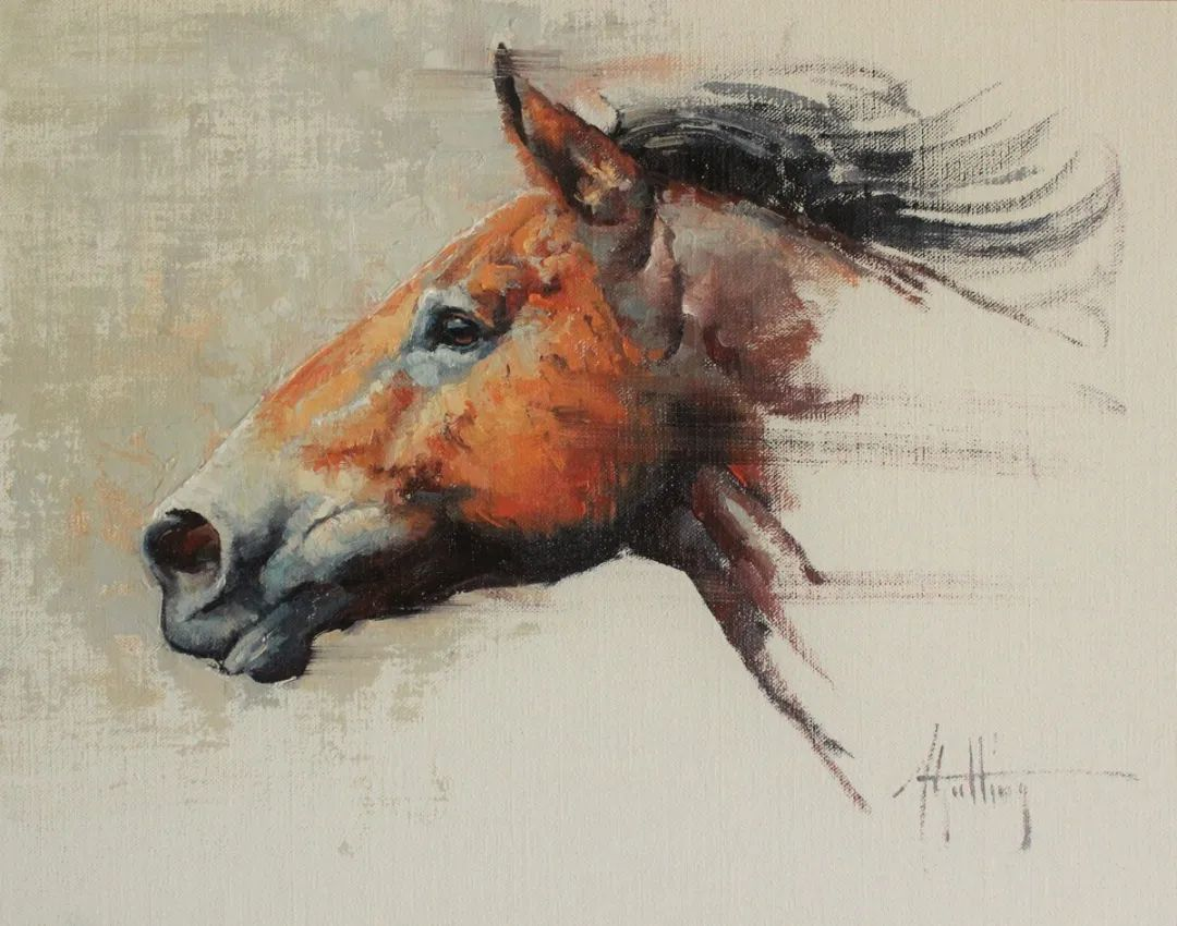 90后美女画家,画马水平堪称一绝,阿比盖尔·古廷作品(上)插图4