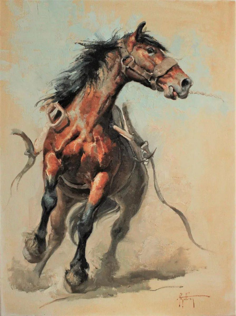 90后美女画家,画马水平堪称一绝,阿比盖尔·古廷作品(上)插图7