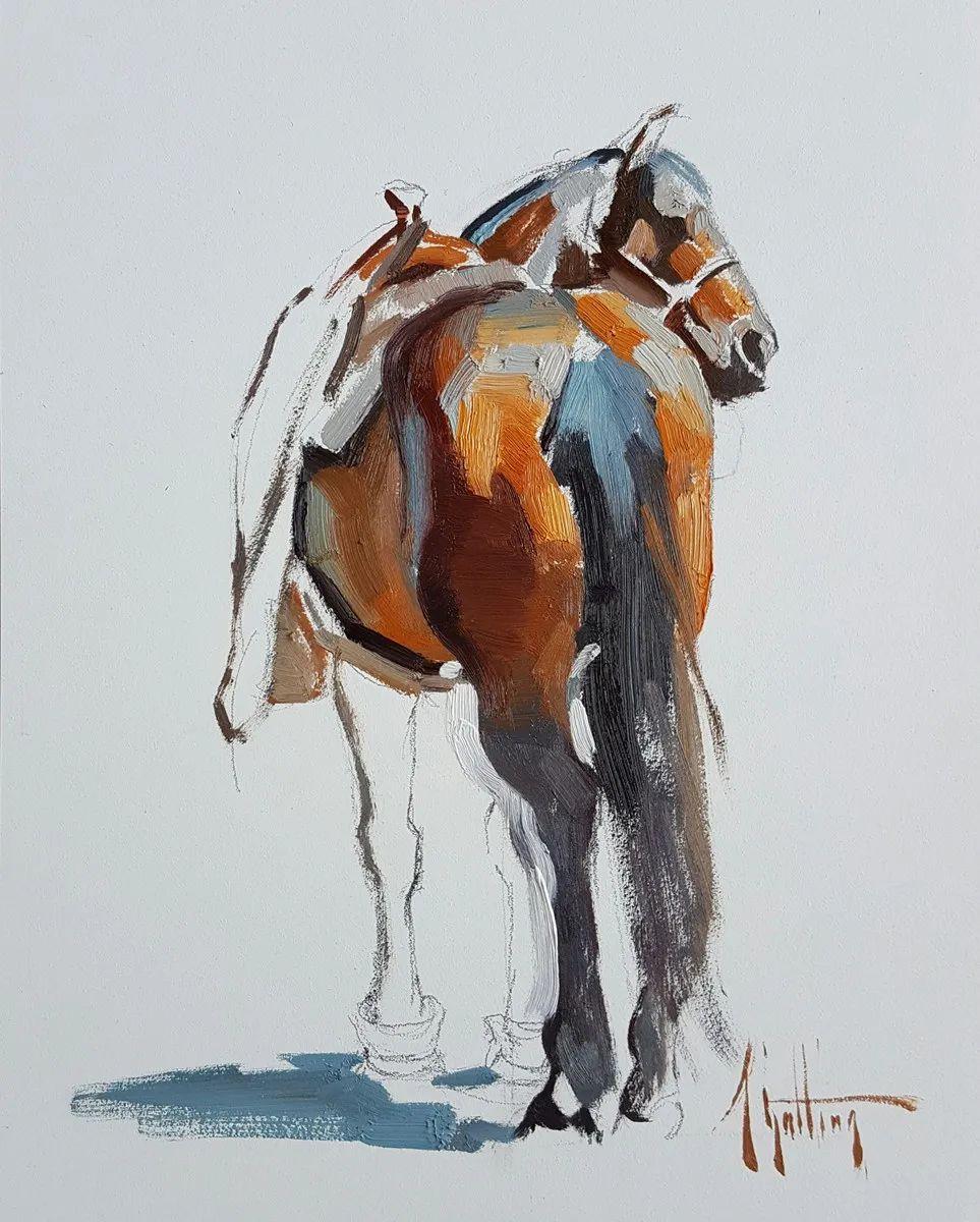 90后美女画家,画马水平堪称一绝,阿比盖尔·古廷作品(上)插图8