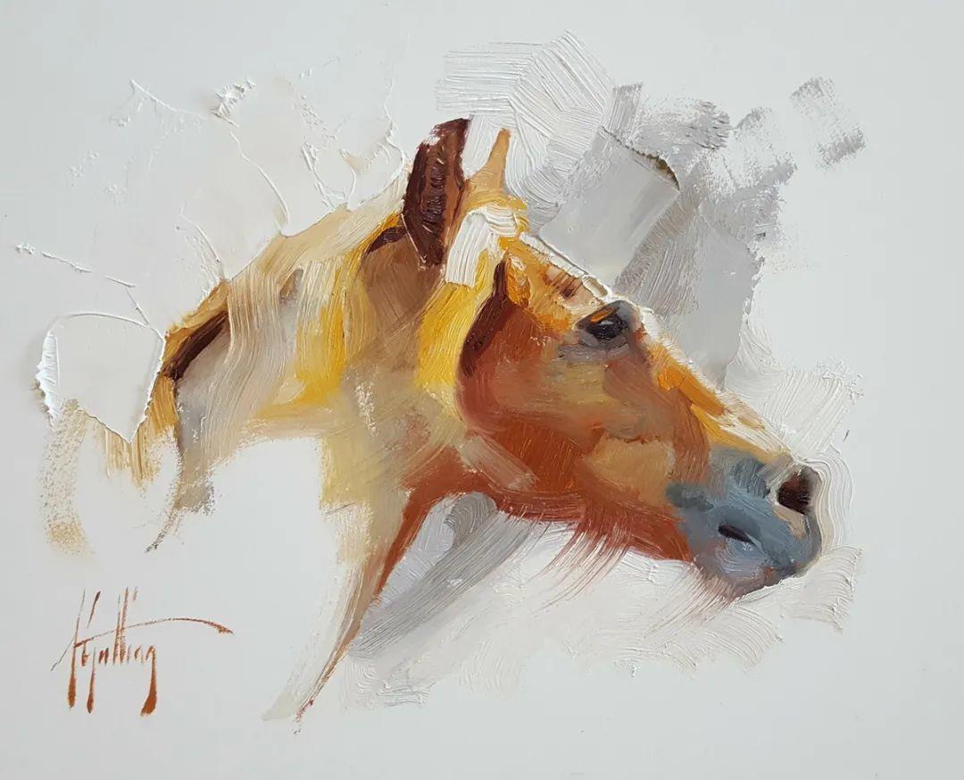 90后美女画家,画马水平堪称一绝,阿比盖尔·古廷作品(上)插图10