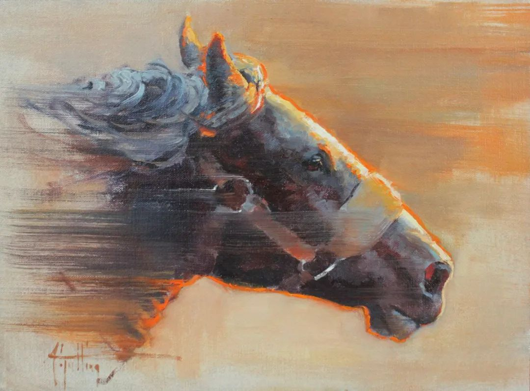 90后美女画家,画马水平堪称一绝,阿比盖尔·古廷作品(上)插图12