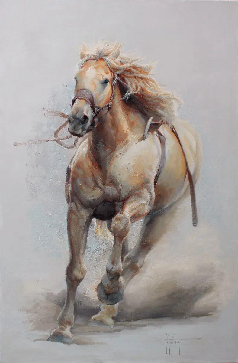 90后美女画家,画马水平堪称一绝,阿比盖尔·古廷作品(上)插图14