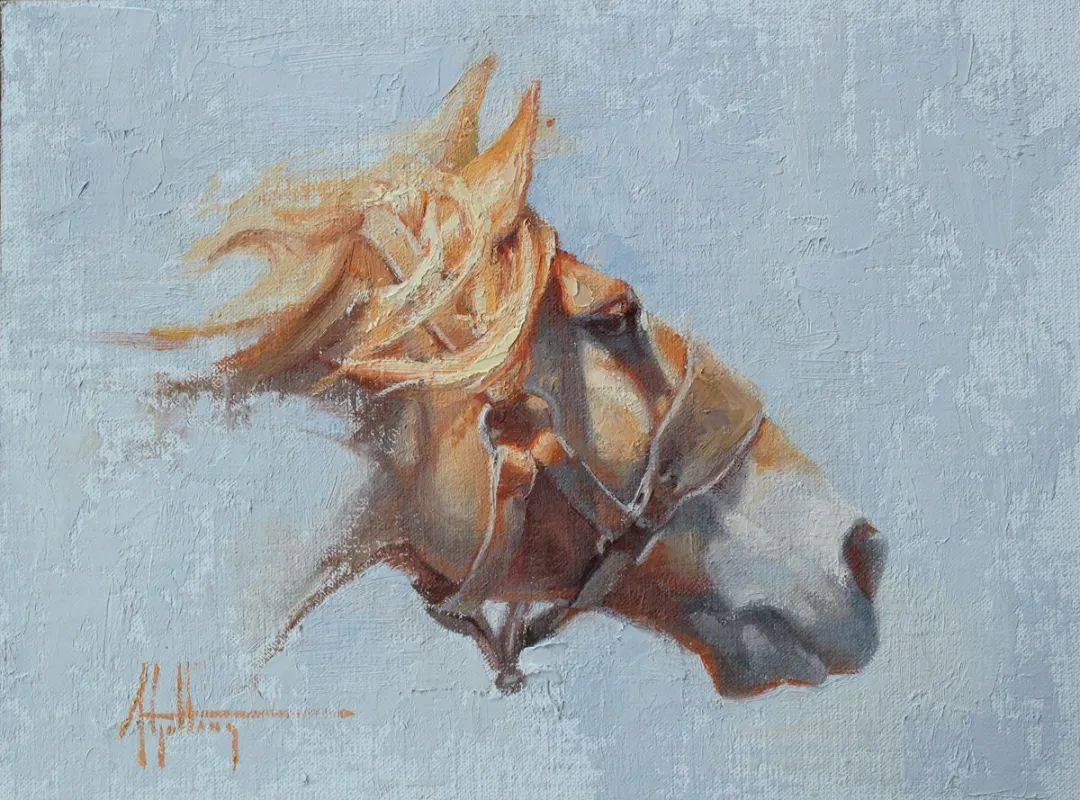 90后美女画家,画马水平堪称一绝,阿比盖尔·古廷作品(上)插图15