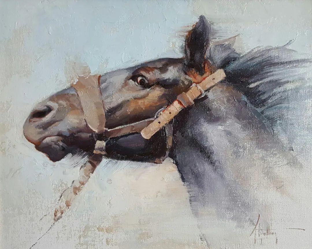 90后美女画家,画马水平堪称一绝,阿比盖尔·古廷作品(上)插图16