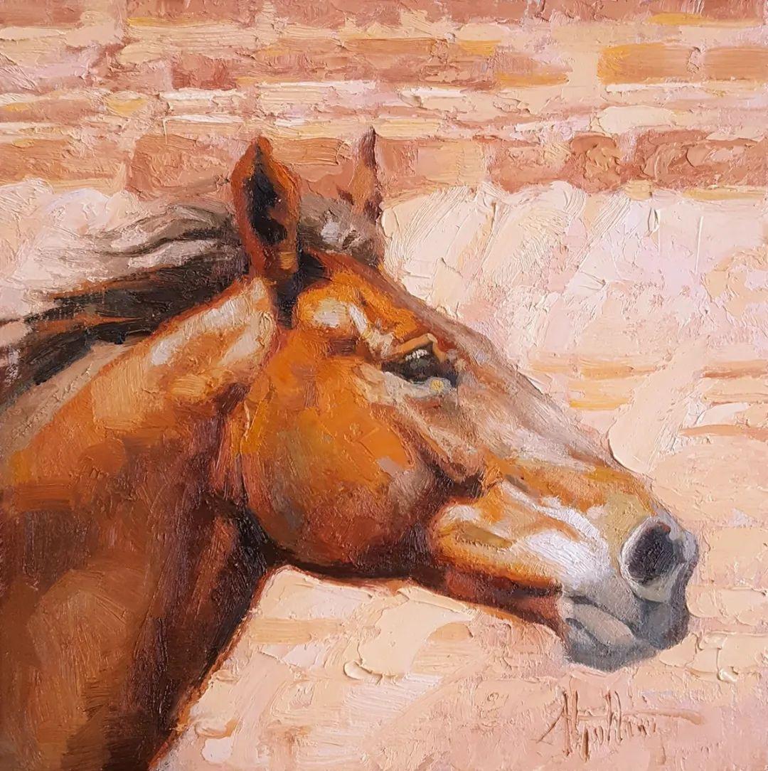 90后美女画家,画马水平堪称一绝,阿比盖尔·古廷作品(上)插图17